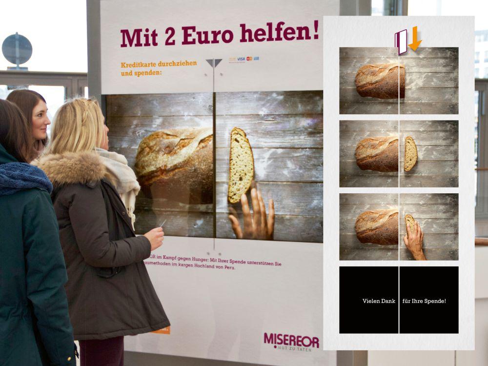 Überzeugte beim Airport Media Award: Miseror-Kampagne gewann im März (Foto: Initiative Airport Media)