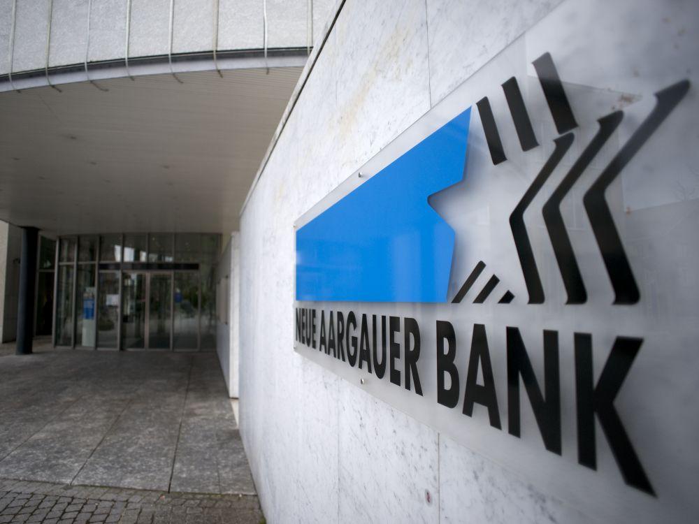 Eingang der NAB-Filiale in Wohlen (Foto: Neue Aargauer Bank)