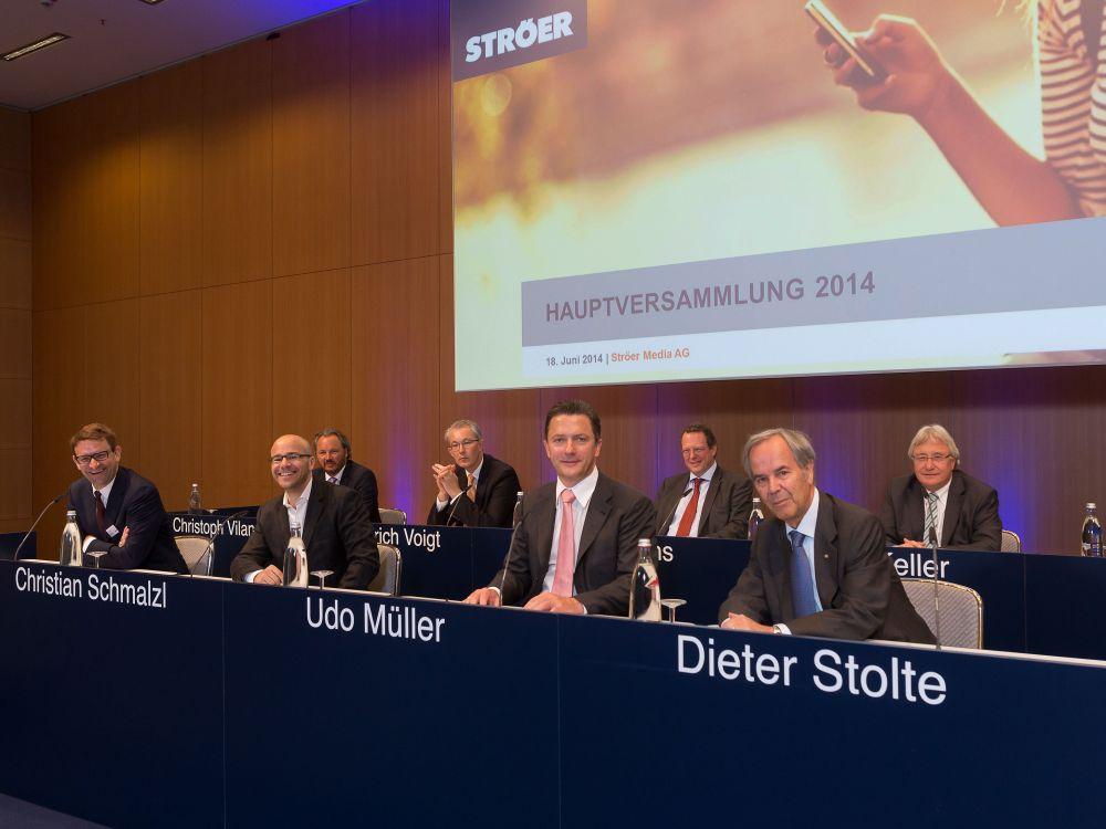 Ströer Vorstand auf der Hauptversammlung 2014