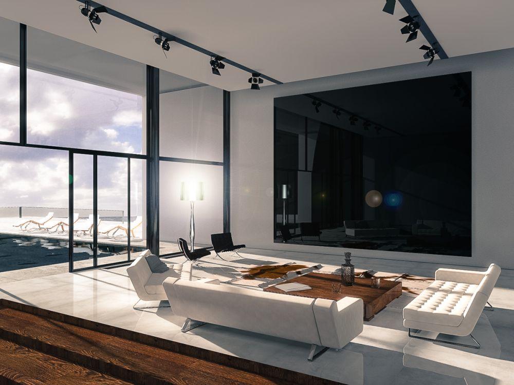 """Der Luxus-TV """"Zeus"""" im Wohnzimmer (Foto: Titan Technology)"""