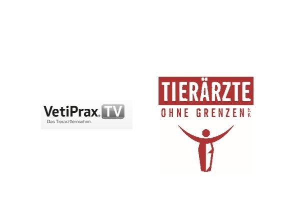 VetiPrax TV und Tierärzte ohne Grenzen kooperieren (Grafiken: VetiPrax TV, Tierärzte ohne Grenzen)