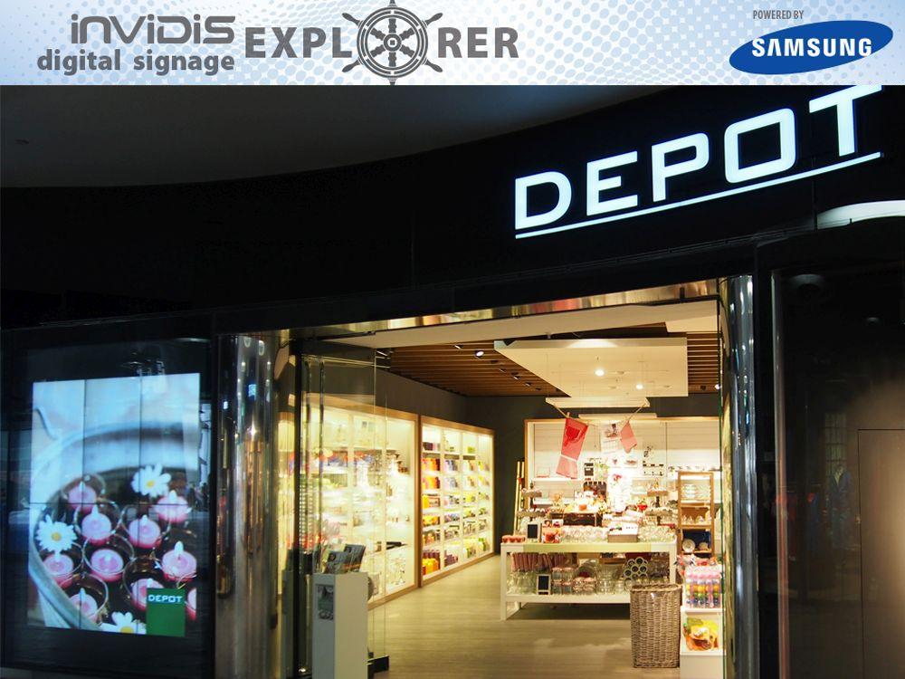 invidis Digital Signage Explorer - DEPOT (Bild: invidis)