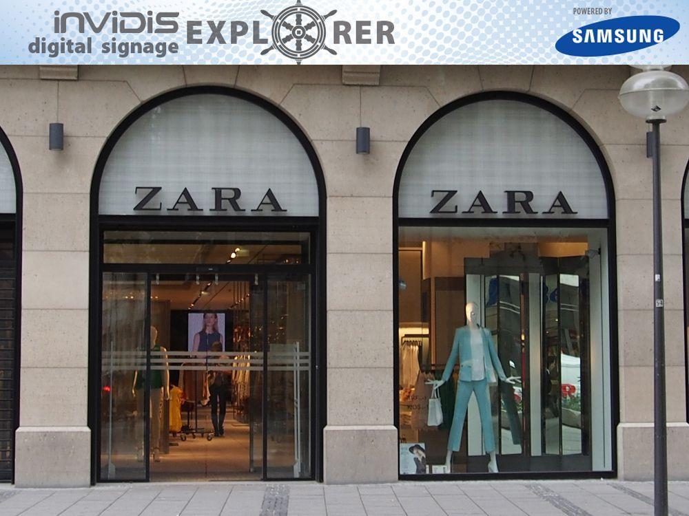 Invidis Digital Sigange Explorer - ZARA (Bild: invidis)