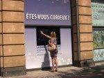 Die Banque Populaire Lorraine Champagne setzt das System auch im Schaufenster ein (Foto: Inui)