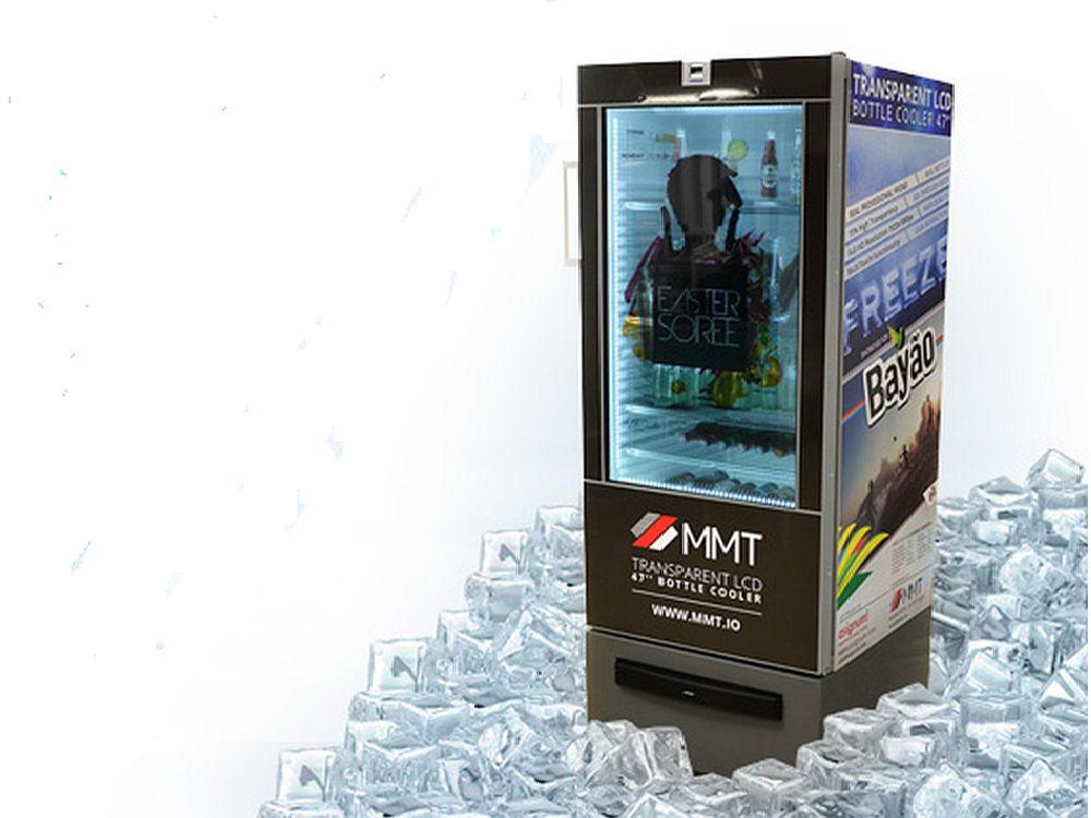 Bayao setzt auf den Transparent LCD Bottle Cooler von MyMultitouch (Foto:MMT)