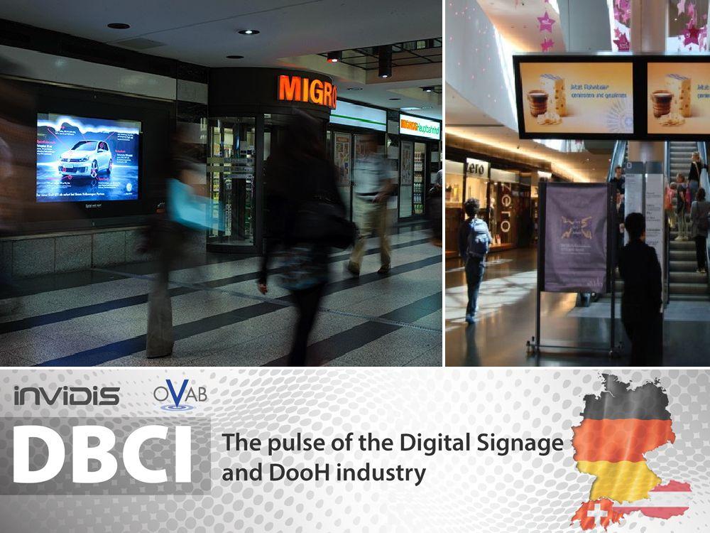 Trend zur Vernetzung in der Schweiz - Werbung am Bahnhof Zürich und bei Coop (Fotos: Vanija, Neo Advertising; Grafik/ Montage: invidids.de)