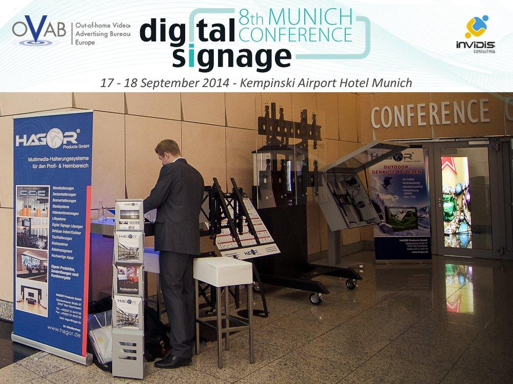 Hagor: Zum zweiten Mal Aussteller auf der OVAB Digital Signage Conference Munich (Bild: invidis)