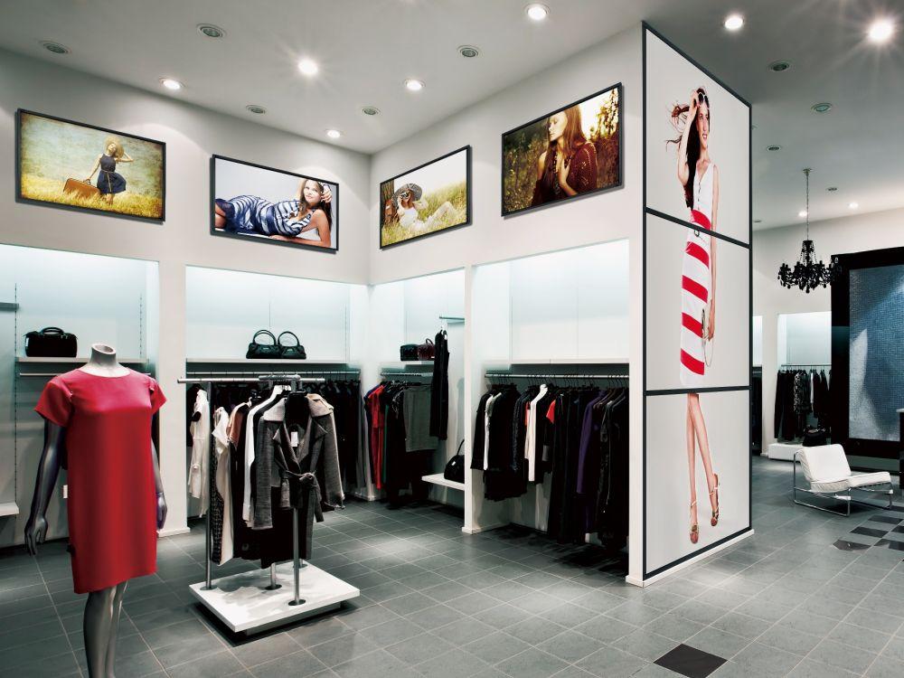 Digital Signage-Displays von BenQ im Retaileinsatz (Foto: BenQ)