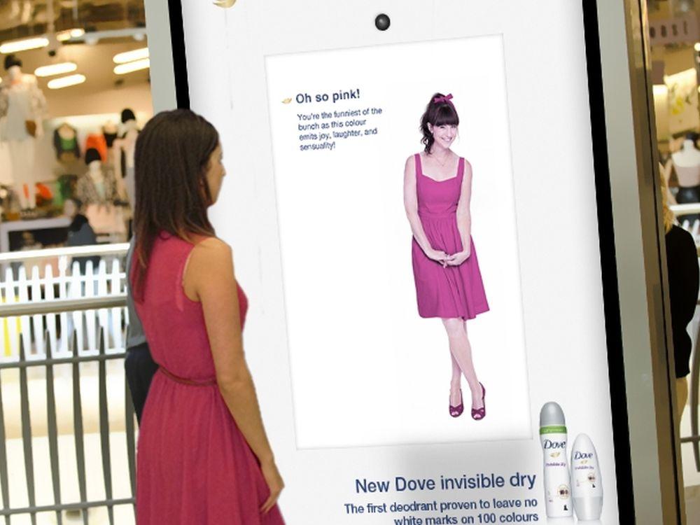 """Dove """"100 colours""""-Kampagne in einer britischen Shopping Mall (Foto: JCDecaux UK)"""