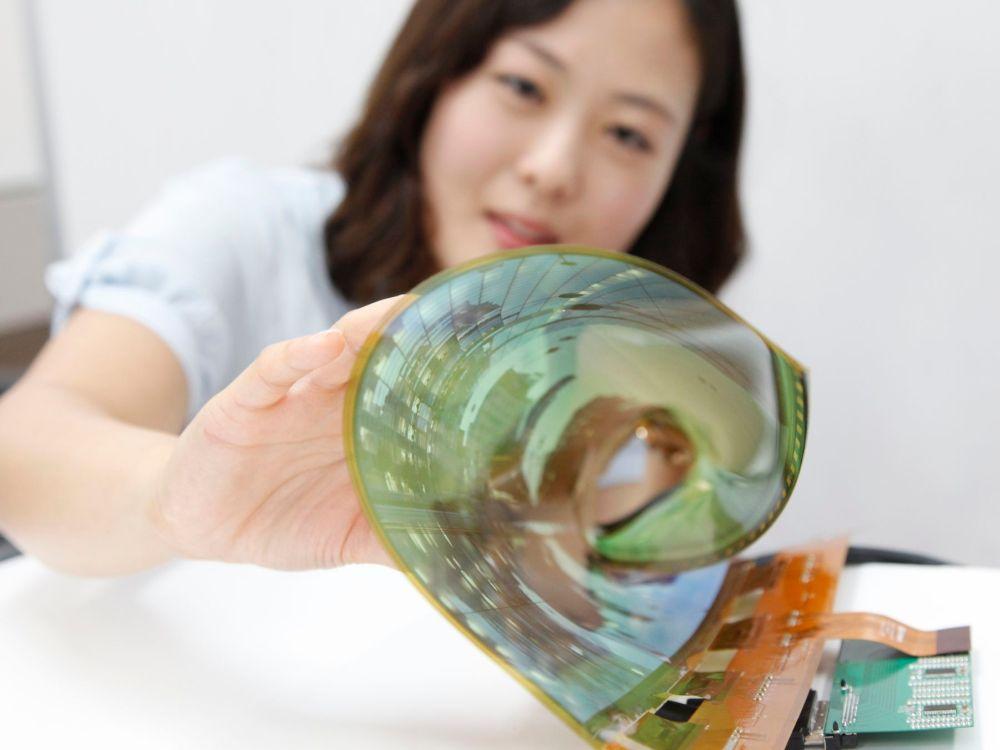 LG zeigt ein erstes flexibles und transparentes OLED Display in 18Zoll (Foto: LG)