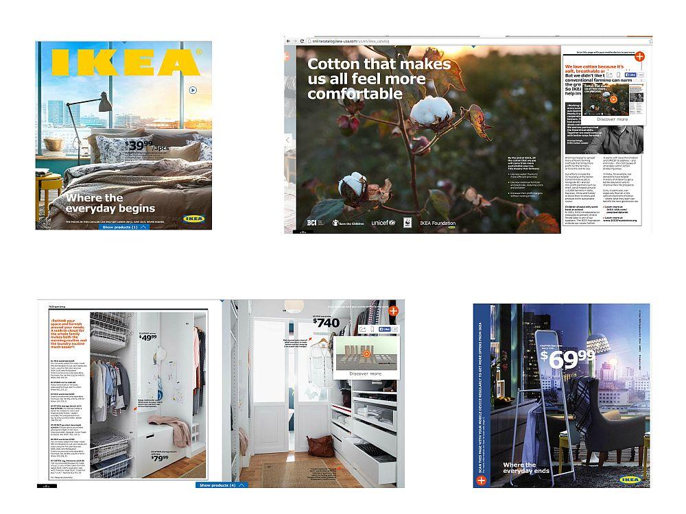US-Ausgabe des digitalen Ikea-Katalogs 2015 mit Vorser- und Rückseite (Screenshots/ Montage: invidis.de)