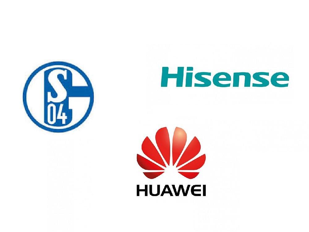 Schalke kooperiert jetzt mit Hisense und Huawei (Grafiken: Schalke 04, Unternehmen)