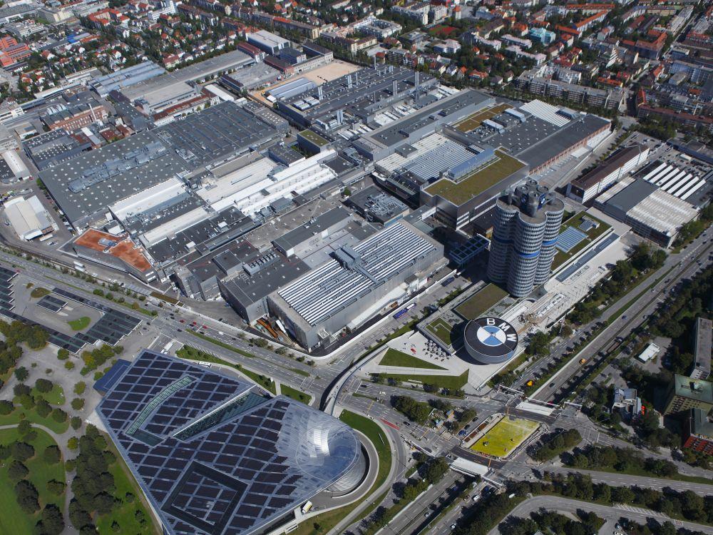 Luftbild des BMW-Werks in München (Foto: BMW Group)