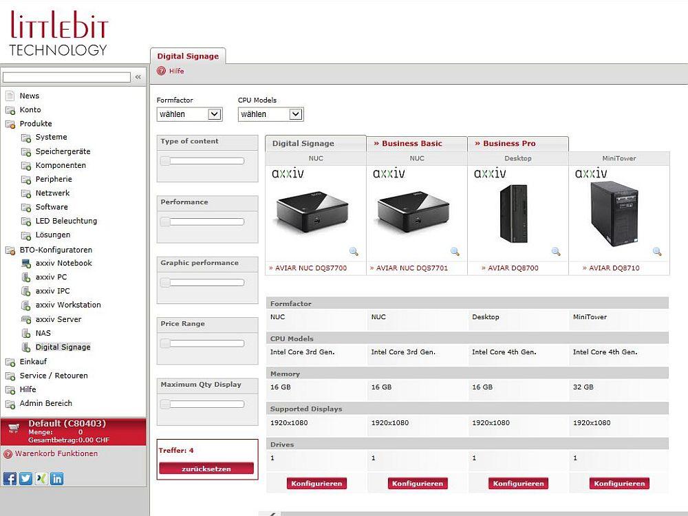 Littlebits neuer Mediaplayer-Konfigurator (Screensshot: Littlebit Technology AG)