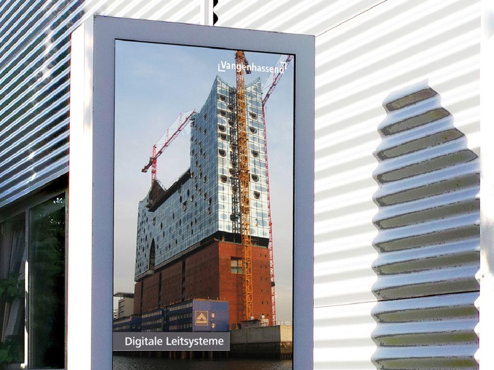 """ScreenNT-Technologie: Neue """"designage""""- Outdoorstele von Vangenhassend (Foto: Vangenhassend)"""