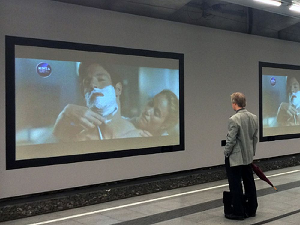 NIVEAs aktuelle DooH-Kampagne in Österreich (Foto: Goldbach Austria)