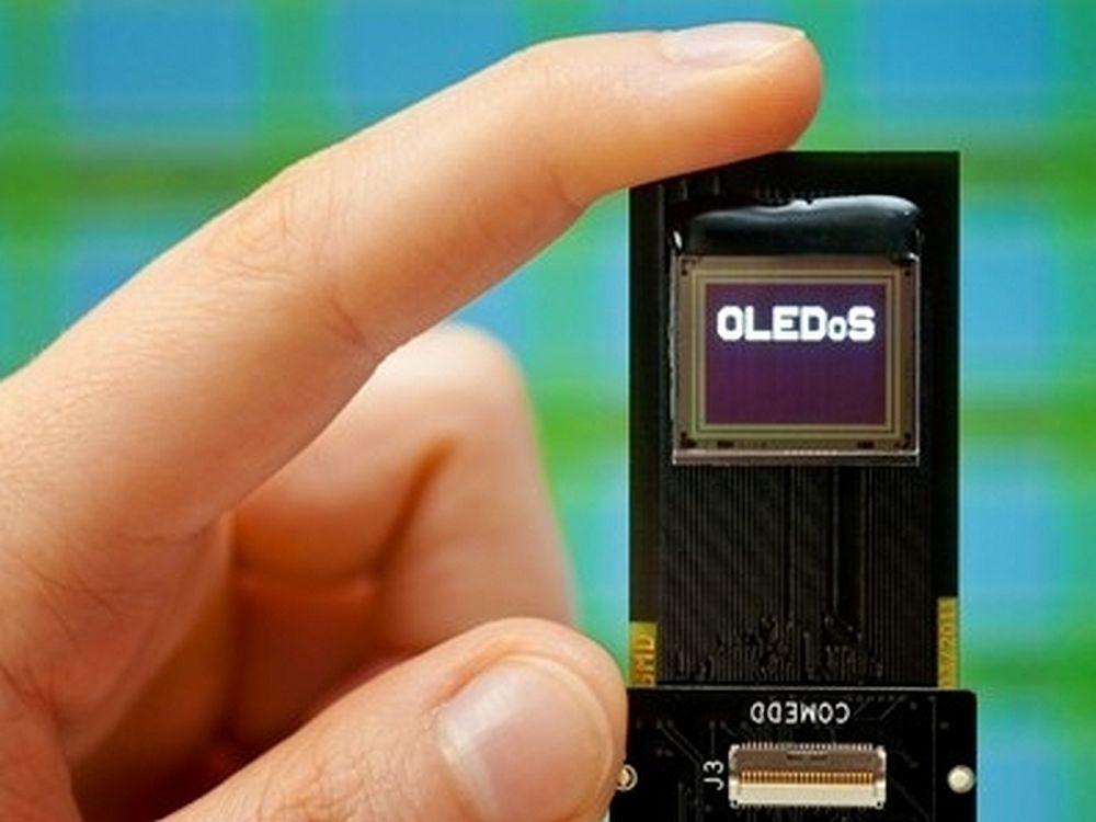 COMEDD-Entwicklung: OLED-Mikrodisplay (Foto: Fraunhofer-Gesellschaft)