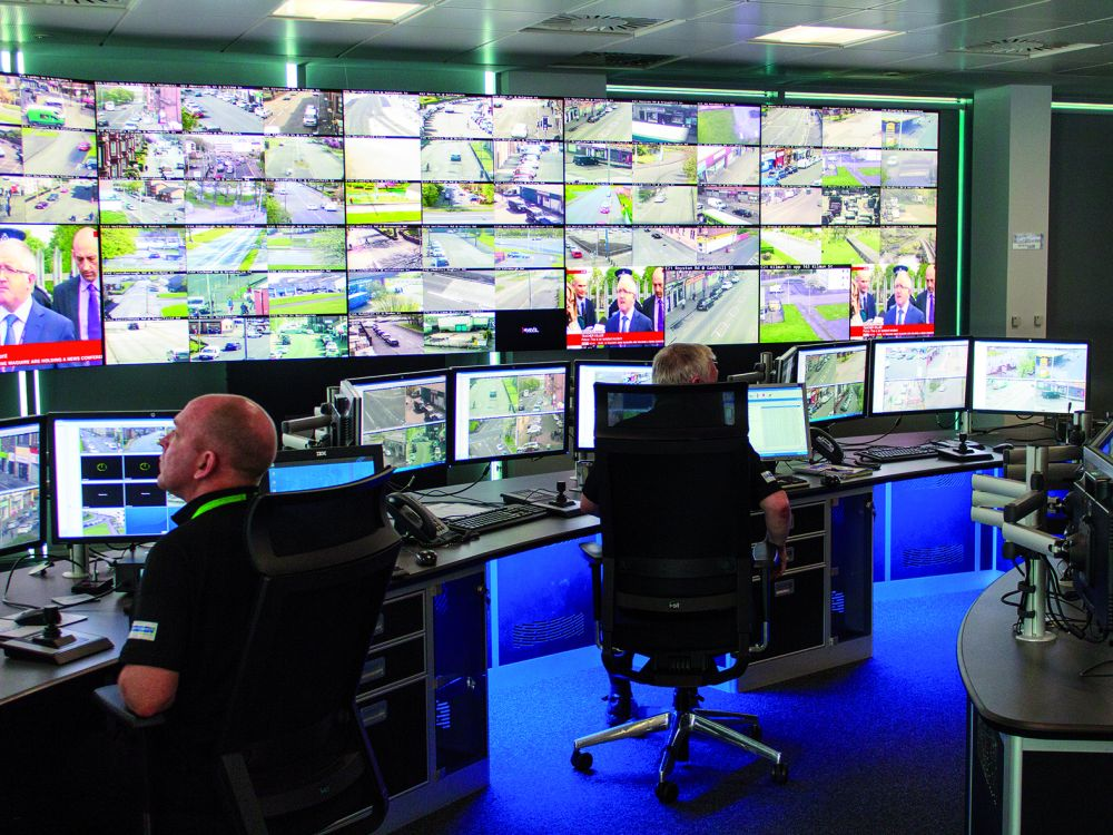 eyevis-Video Wall im Kontrollraum der Commonwealth Games (Foto:eyevis)