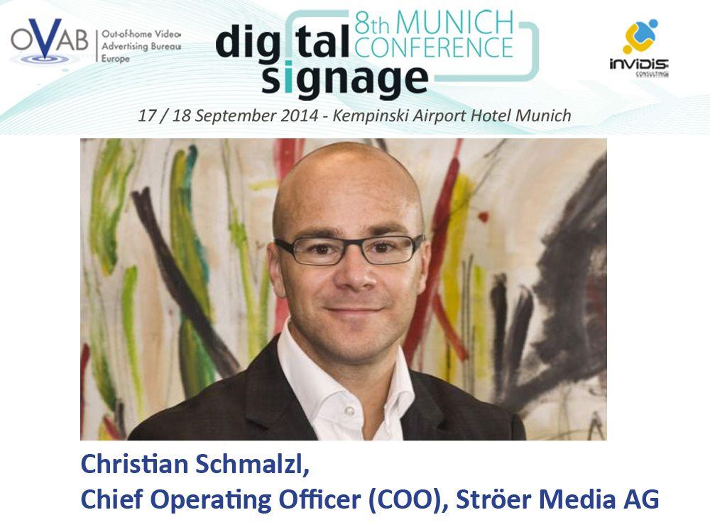 Christian Schmalzl, Chief Operating Officer (COO) der Ströer Media AG hält die Keynote auf der diesjährigen Konferenz (Bild: Ströer / invidis)