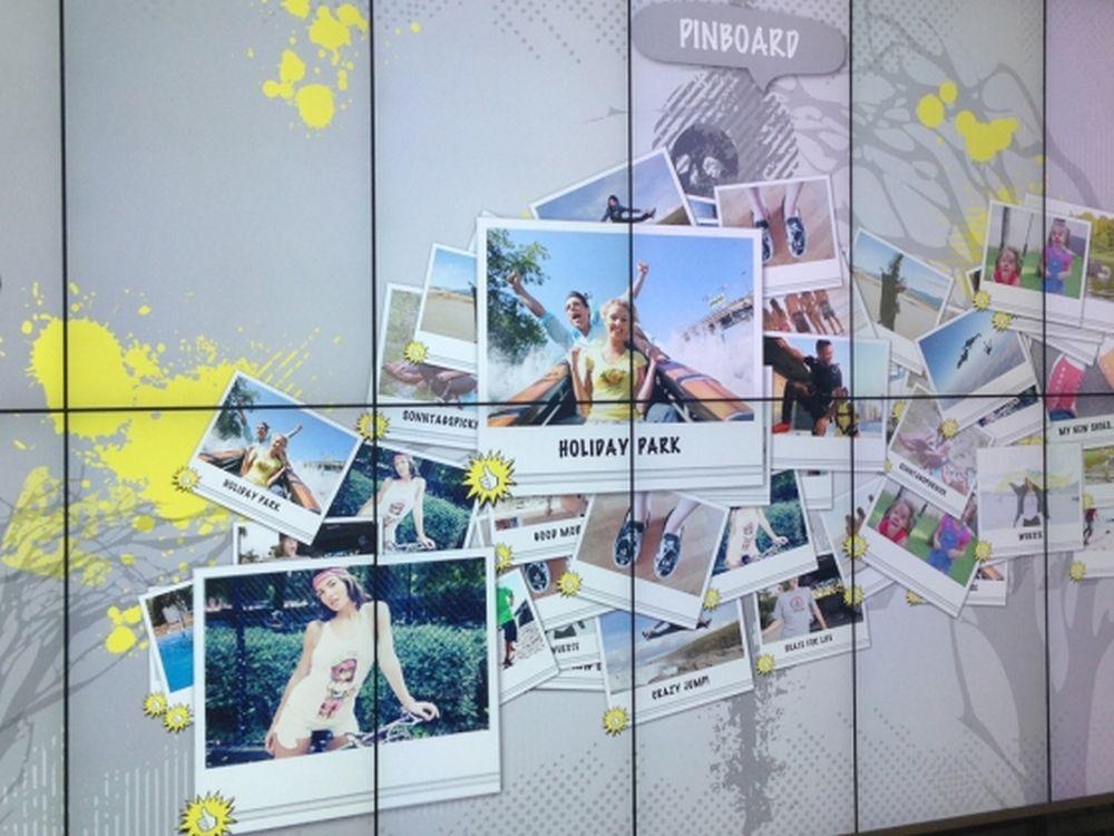 viPOS Video Wall auf der Euroshop 2014 (Foto: Umdasch)