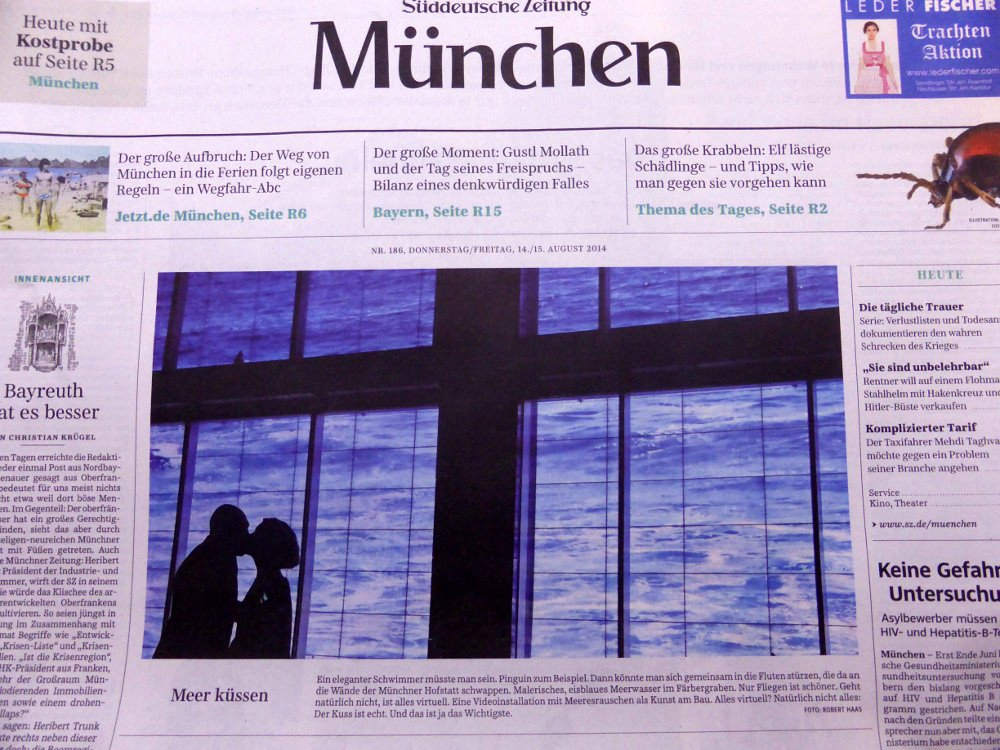 Digital Signage Romantik in der SZ
