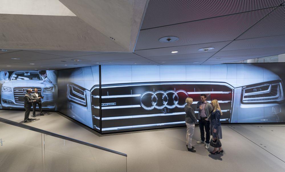 Breitwand vom Feinsten: Powerwalls in Berlin (Foto: Audi)