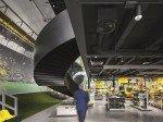 Gelbe Wand in der BVB-FanWelt (Foto: Zumtobel)