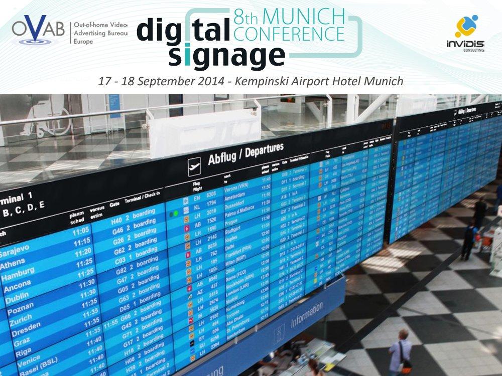 OVAB Digital Signage Conference Munich: Guided Tour Airport Munich (Bild: Inonet/Montage: invidis)