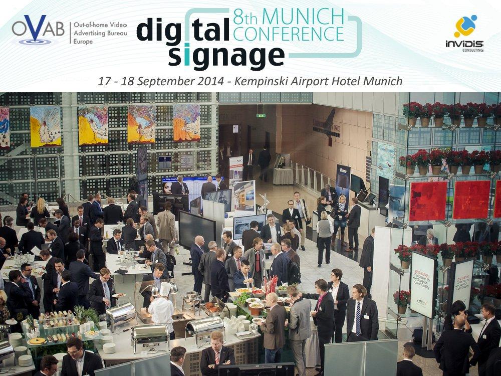 Ausstellungsbereich, Vorträge und Networking - volles Programm auf der OVAB Digital Signage Konferenz Munich (Bild: invidis)