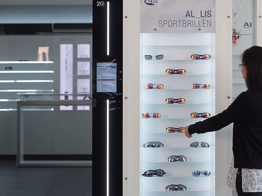 Elevender. interaktiver Paternoster für Brillen (Screenshot: invidis.de)