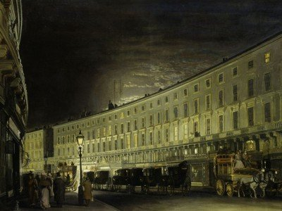"""The Regent Street Quadrant at Night"" von Francis L.M Forster (1897) (Foto: Museum of London)"