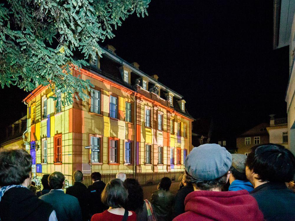 Genius Loci 2013: Installation am Wittumspalais (Foto: Genius Loci Festival)