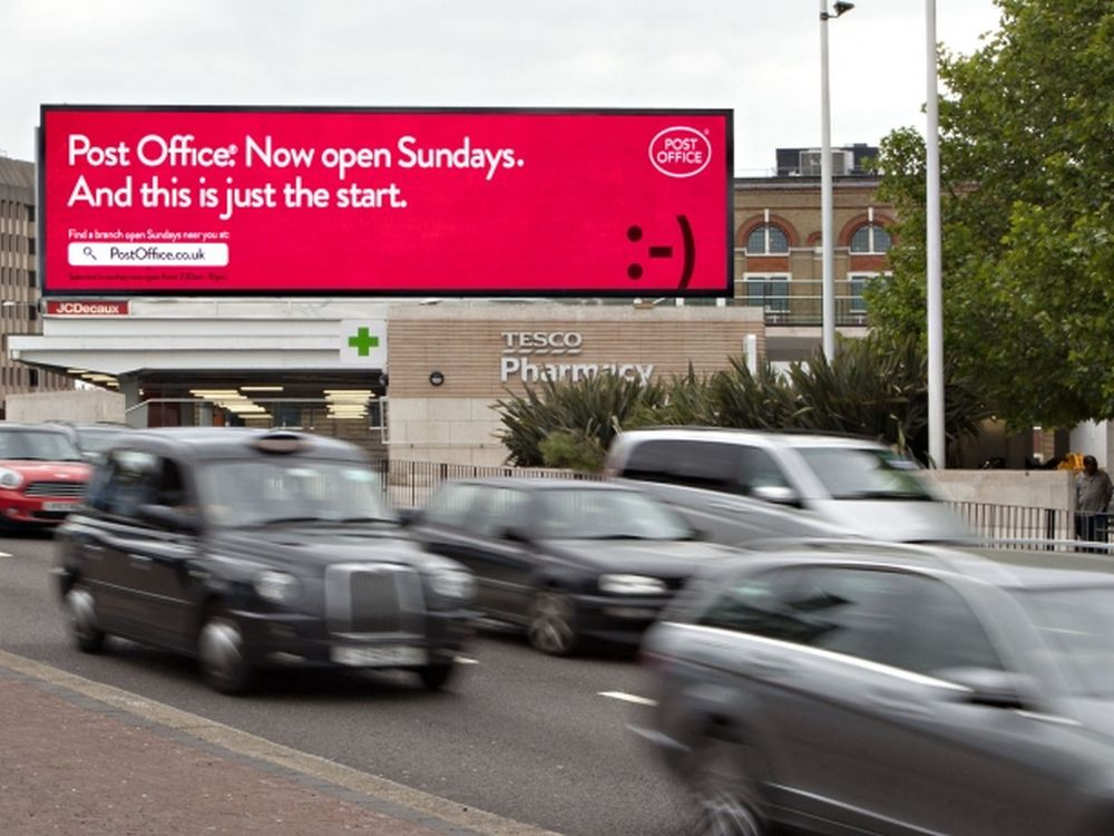 Post Office: Digital-Out-of-Home-Kampagne (Foto: JCDecaux)