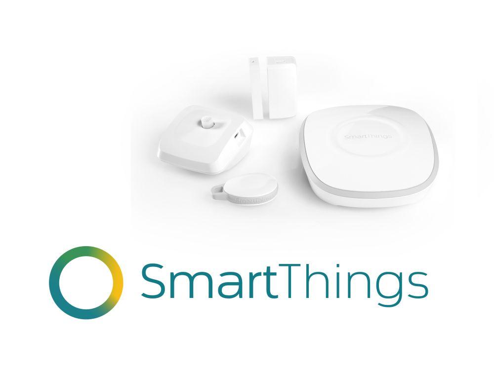 Produkte und Logo von SmartThings