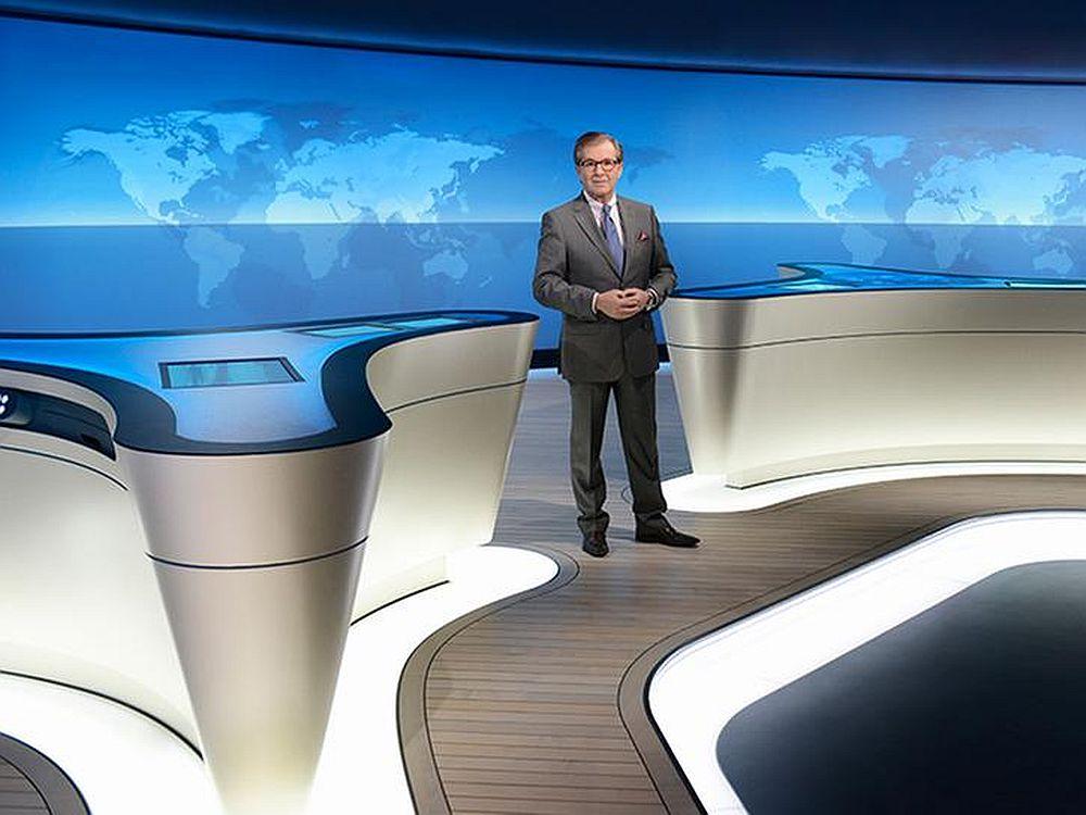 Premiere im neuen NDR-Studio hatte die Tagesschau mit Jan Hofer (Foto: Das Erste/ NDR)