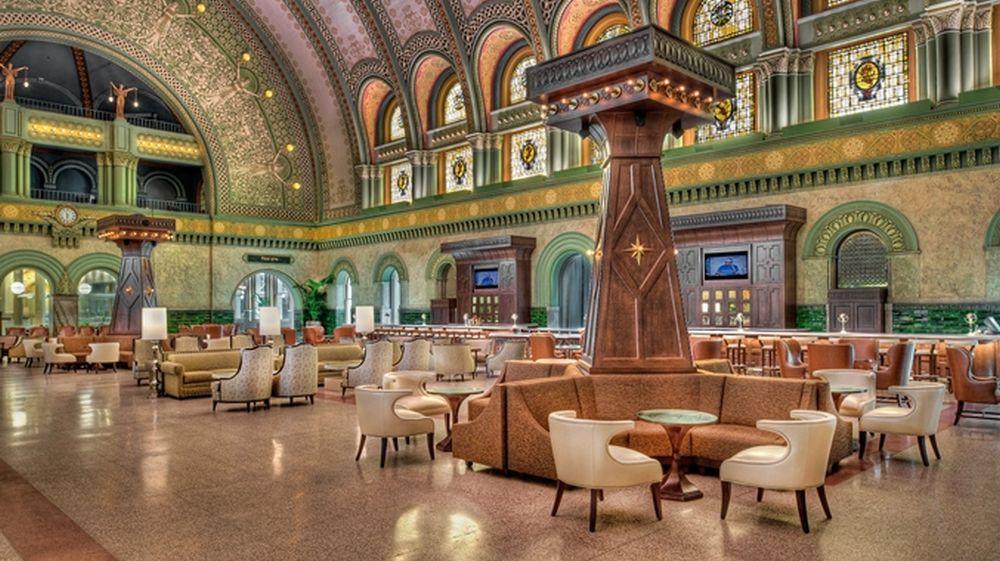 Grün gestimmt: Große Halle des Hotels (Foto: The Grand Hall)