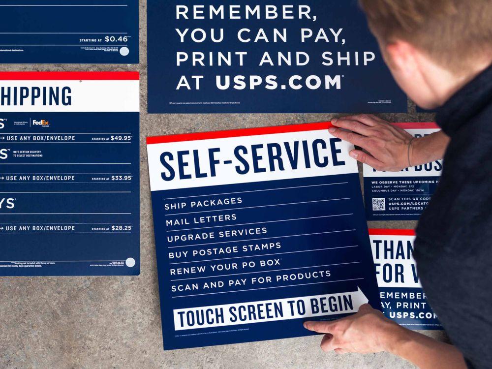 USPS Rebranding: Marketingmaterial (Foto: GrandArmy)