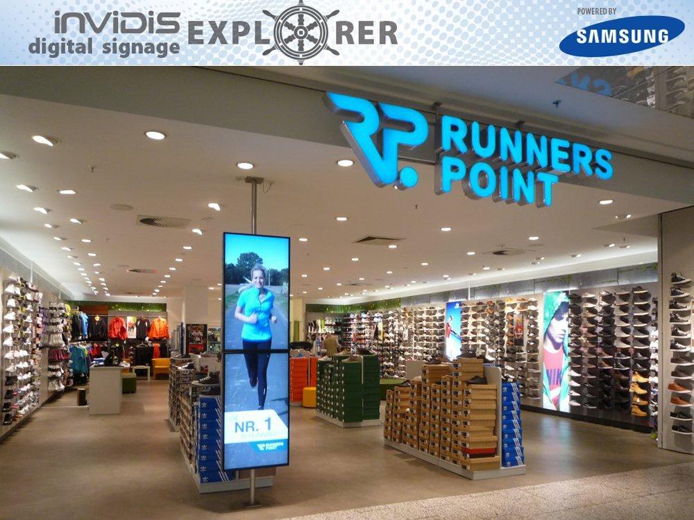 invidis Digital Signage explorer - RUNNERS POINT (Bild: invidis)