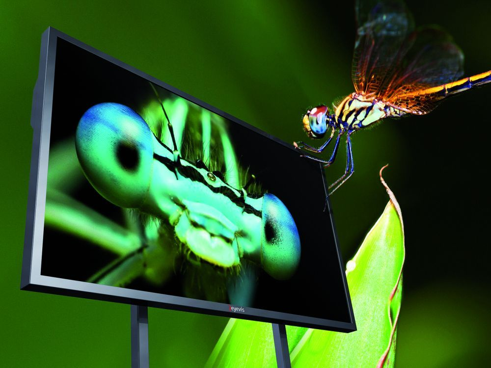 Ultra HD Signage-Display von eyevis: EYE-LCD-8500-QHD-LD (Foto: eyevis)