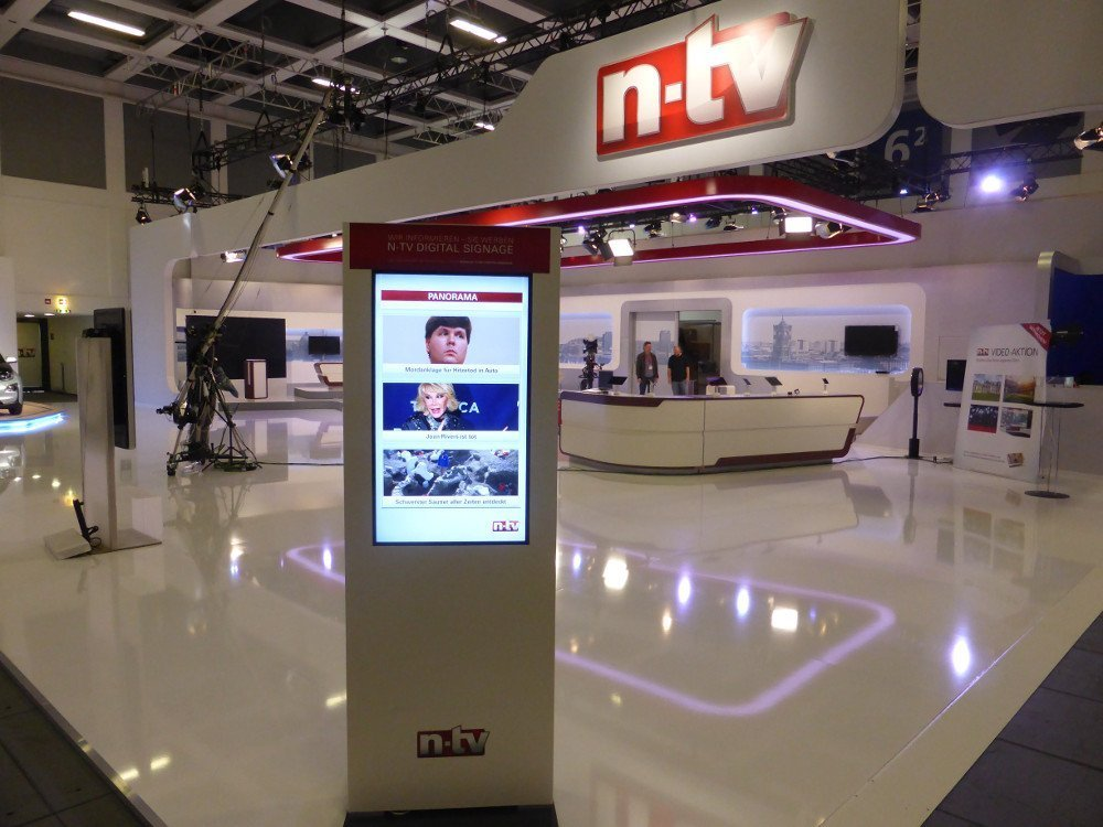 n-tv digital signage (Foto: invidis)