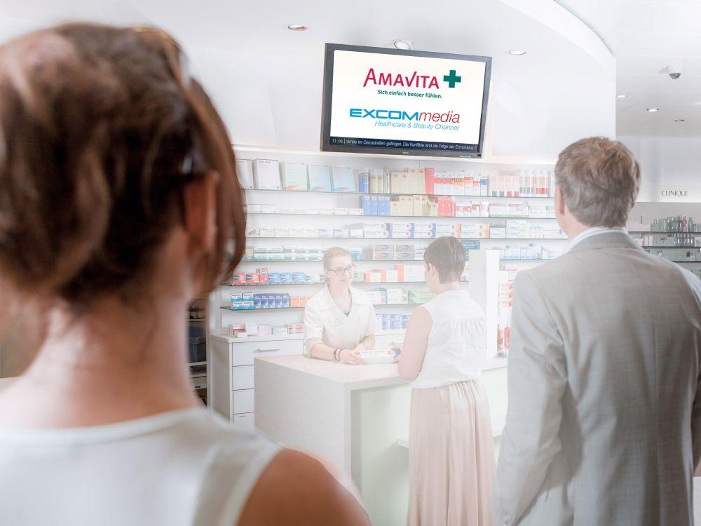 Amavita und Excom kooperieren - Helthcare-Channel wächst auf 450 Screens (Foto: Excom Media)