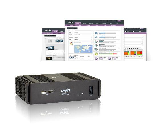 Screenshot von Cayintechs neuer Software SMP-NEO und neuer Player SMP-4000 (Fotos: Cayintech)