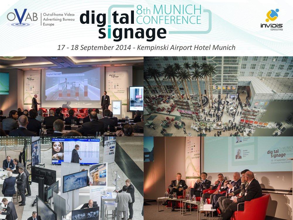 8. OVAB Digital Signage Conference Munich - Jetzt Teilnehmer werden (Bilder: invidis)