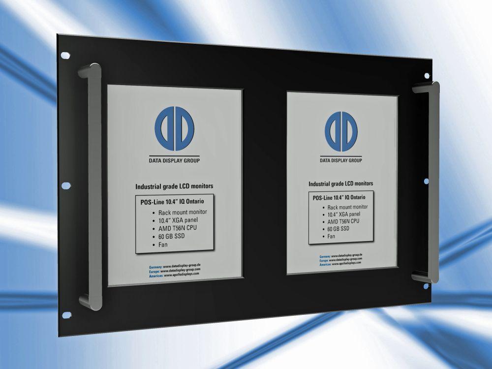 LCD-Displays für den Einbau in 19-Zoll-Racks (Foto: Distec)