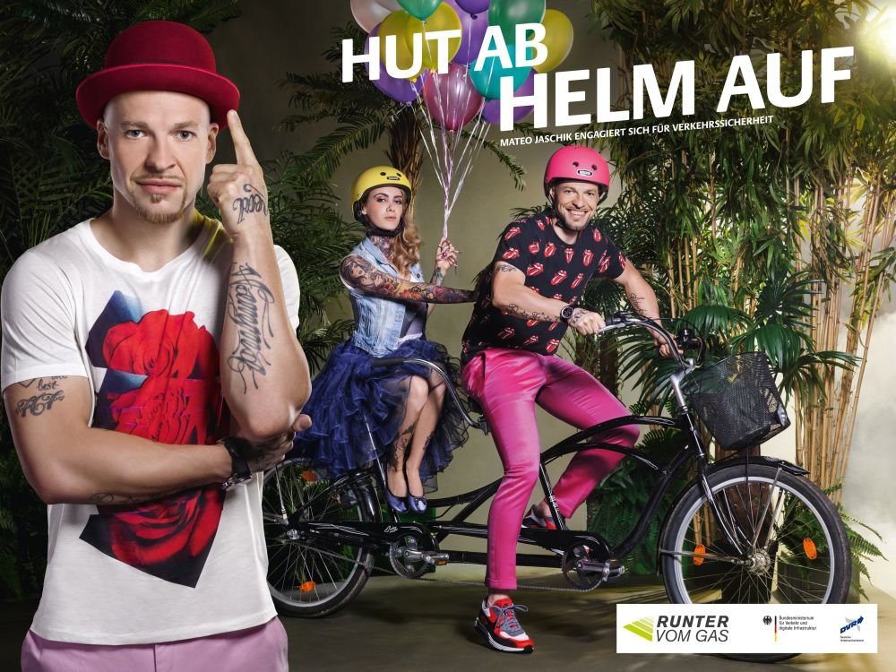 Hut ab - Hlm auf: Plakatmotiv mit Mateo Jaschik (Foto: Serviceplan)