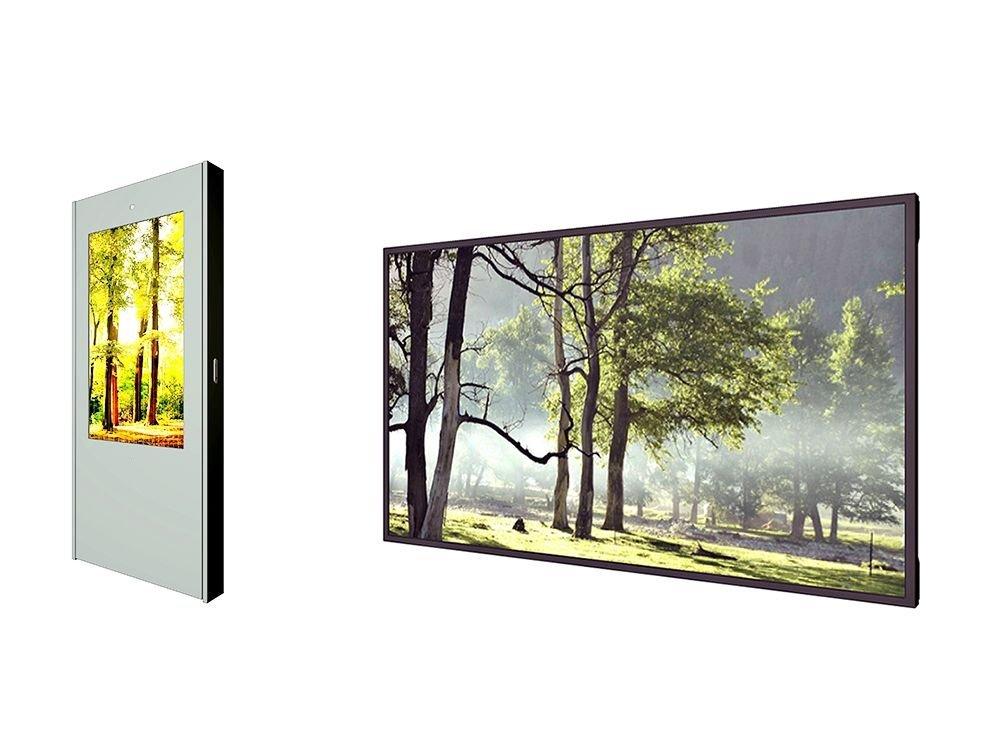 Hyundai IT: Single Sided Outdoor Display (links) und 46-Zöller (Fotos: Hyundai IT)