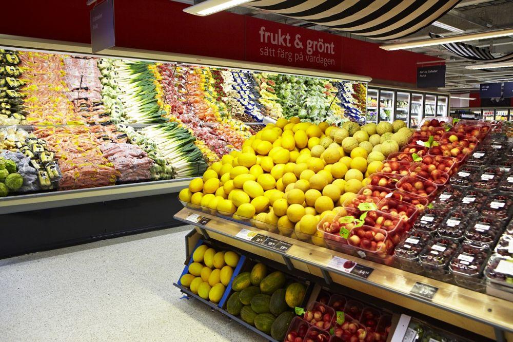 """Frischeabteilung eines schwedischen """"ICA- Supermarkets"""" (Foto: ICA)"""