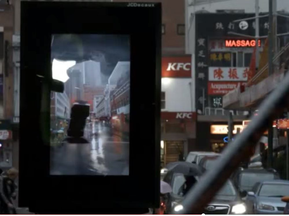"Filmstart von ""Into The Storm"": AR-DooH-Aktion in Australien (Screenshot: invidis.de)"