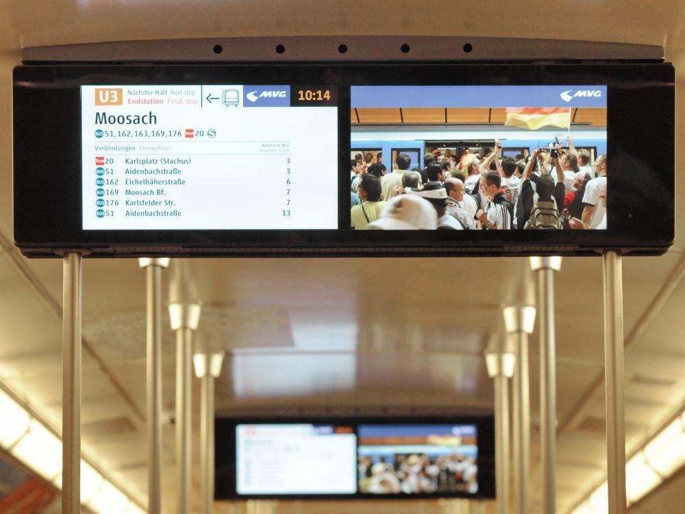 Infotainment-Programm im Münchner Fenster (Foto: mc R&D GmbH)