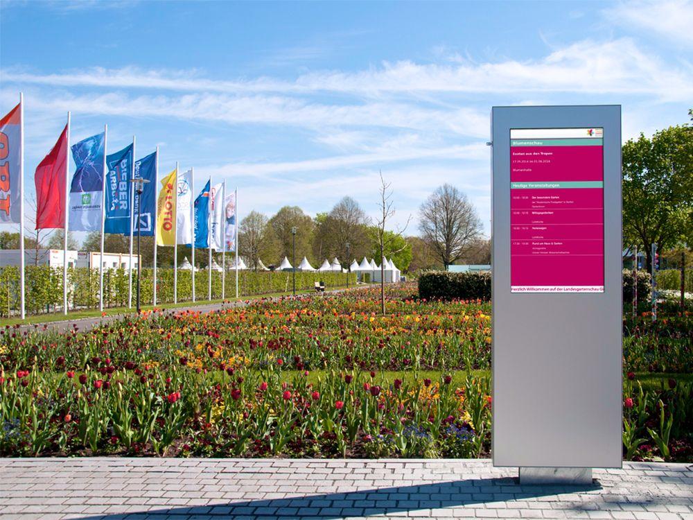 wizAI-Stele mit Samsung-Display auf der 5. Hessischen Landesgartenschau (Foto: wizAI)